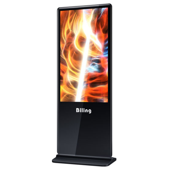 55 Inch Super Slim Floor Standing Kiosk Bluetooth Advertising Video Player Touch Screen for Advertising pictures & photos