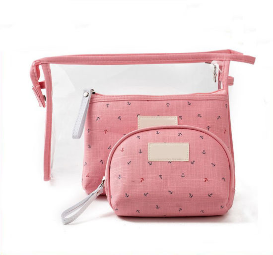 Distributor Promotional Lady Purse Pouch Portable Carrier Woman Carry Toilet Toiletry Waterproof Transparent Makeup Travel Beauty Cosmetic Bag