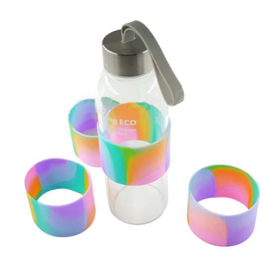 Custom Anti-Hot Camouflage Hot Water Glass Protective Silicone Cover Sleeves