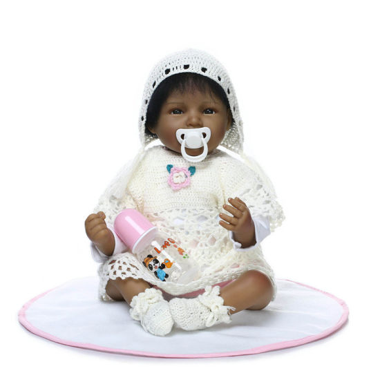 Made in China Soft Vinyi Silicone Africa Reborn Dolls New Born Black Girl Dolls for Children Toys pictures & photos
