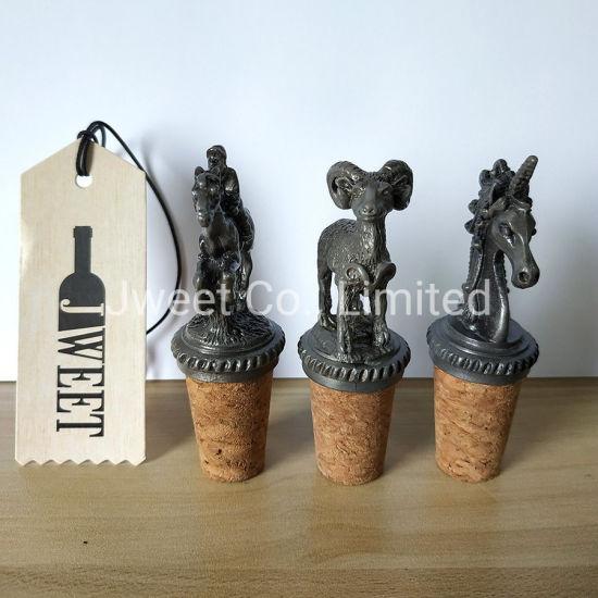 Zinc Alloy Horse Animal Design Spirit Wine Bottle Stopper