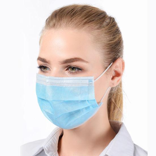 in Stock Comfortable Breathable Medical Disposable Face Mask 3 Layers Surgical Disposable Mask with Earloop