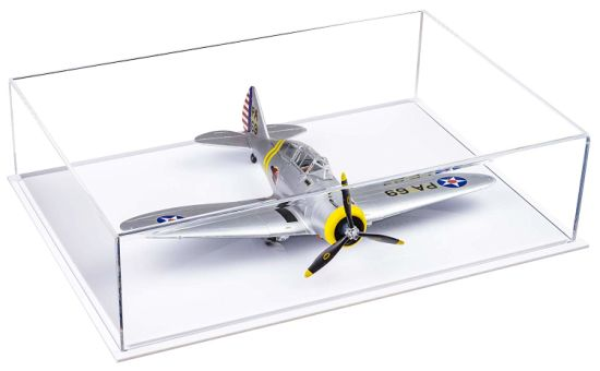 Custom Deluxe Clear Acrylic Model Plane Display Case
