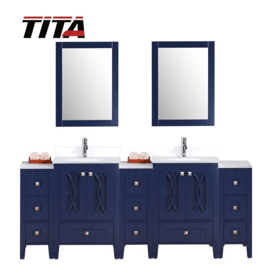 Frost Tempered Glass Bathroom Vanity T9315-84b
