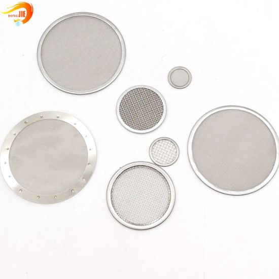 20 Micron Stainless Steel Wire Mesh Round Mesh Metal Filter Screen Filter Disc