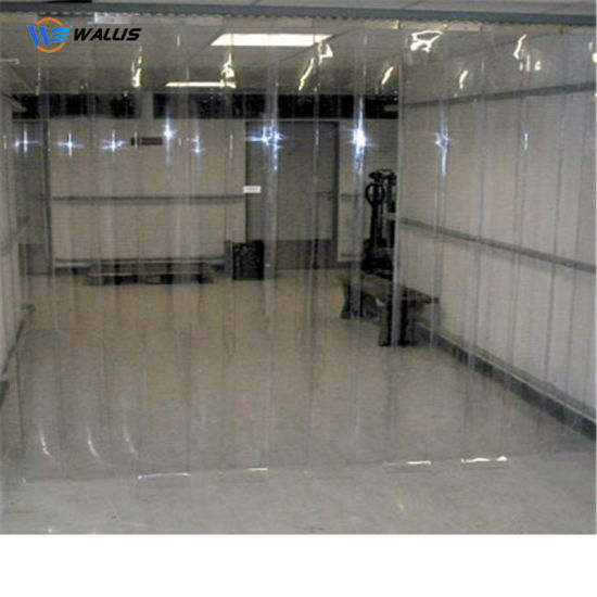 2mm 3mm Super Flexible Clear Transparent Sliding PVC Strip Soft Curtain Sheet in Rolls Clear for Cold Door