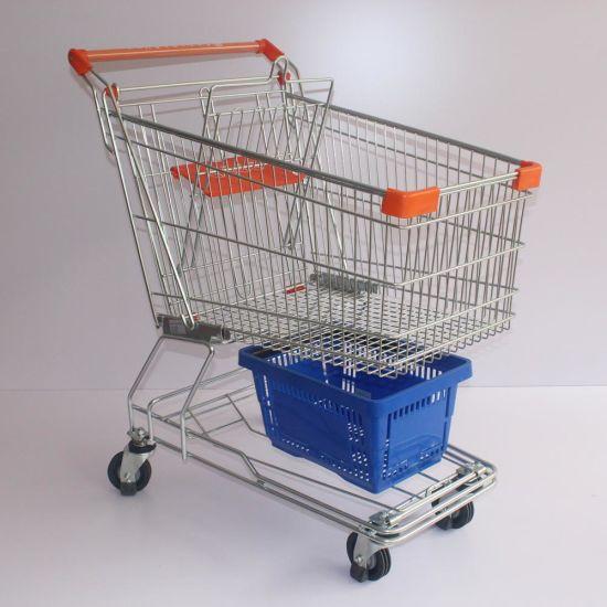 125L Extra Capacity Metal Aisan Design Shopping Cart (JS-TAS04)