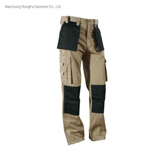 Multi Pockets Auto Repair Workshop Maintenance Canvas Knee Patch Cargo Pants