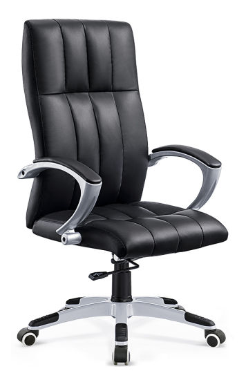 Spinning Desk Chair Mid Back Leather
