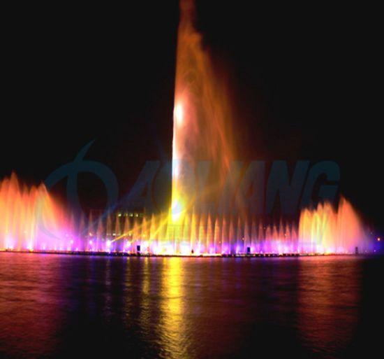 Outdoor High Spray Water Features with Waterproof Laser Light