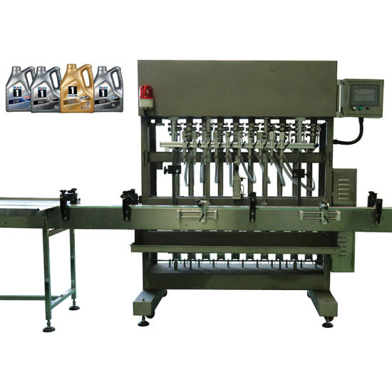 Automatic 1-5L Oil Liquid Filling Capping Labeling Machine/Oil Bottling Machine, Engine/Motor/Car/Gear/Break Oil/Lubricant Oil Bottle Filling Machine with Ce