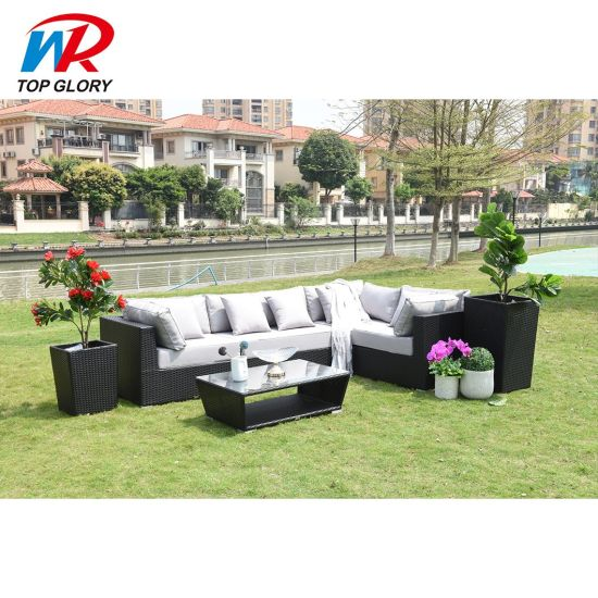 Wholesale Modern Customized Hotel Patio Leisure Garden Sets Outdoor Rattan Sofa Furniture