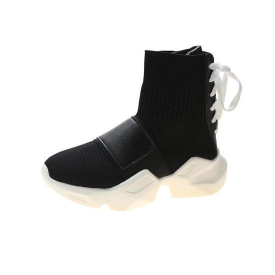 Spring Autumn High-Top Women Fabric Shoes 2021 Causal Shoes Flying Knit Socks Sneakers