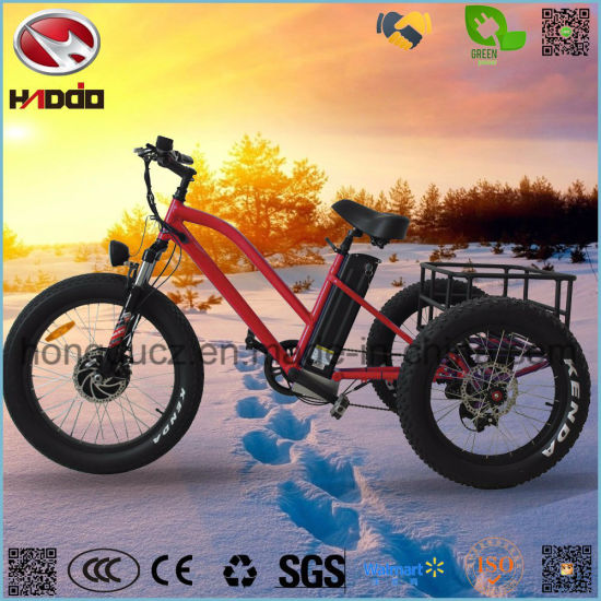 Aluminum Alloy 48V 500W Shimano Kenda Fat Tire Electric Tricycle