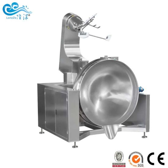 Industrial Stainless Steel Large Tiltable Cooking Kettle with Agitator Approved by Ce SGS