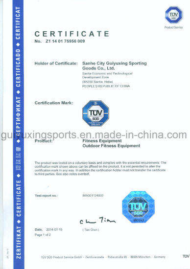 New TUV Rider Of Outdoor body-building for General coordination pictures & photos