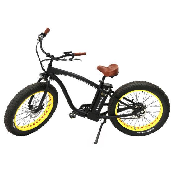 f8d170b9576 750W 4.5 Inch Fat Tire Man Beach Cruiser Electric Mountain Bike pictures &  photos