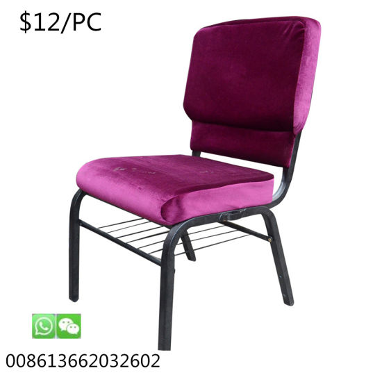 Restaurant Stackable Banquet Meeting Metal Furniture Dining Wholesale Church Chair
