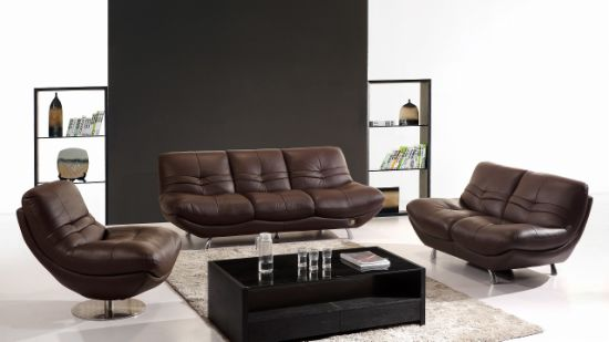 Living Room High Quality Genuine Leather Sofa 1+2+3 (SBL-9034) pictures & photos