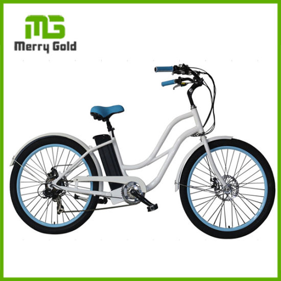 26*2.4 Inch Women/Girls Leisure Fat Tyre Beach Cruiser Electric Bike pictures & photos