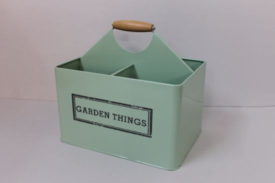 Galvanized Divided Garden Things Storage Tin Tool Box