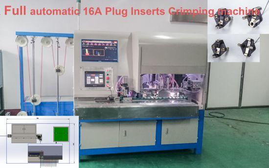 Crimping Usage Semi-Automatic 3 Flat Pin Inner Plug Insert Crimping Making Machine