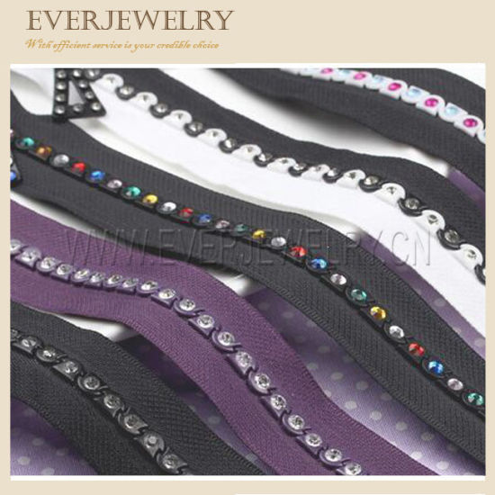 Most Fashion Rhinestone Zipper with Decorative Slider Diamond Zipper