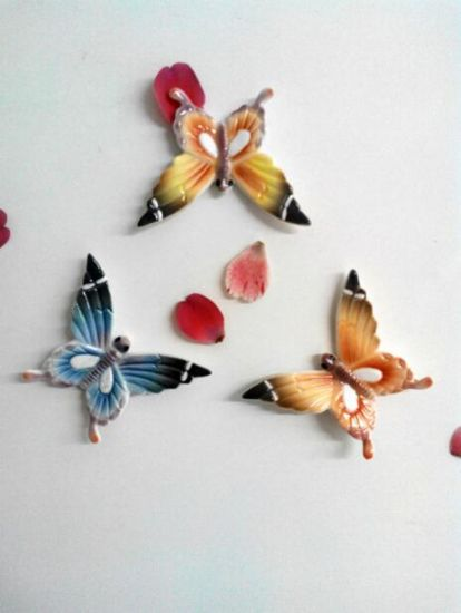 Promotional Customized Colorful Ceramic Butterfly Fridge Magnet pictures & photos