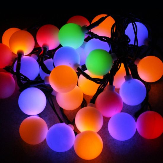 203050 led ball string lights solar powered christmas light decorative lighting for home garden patio lawn party decorations