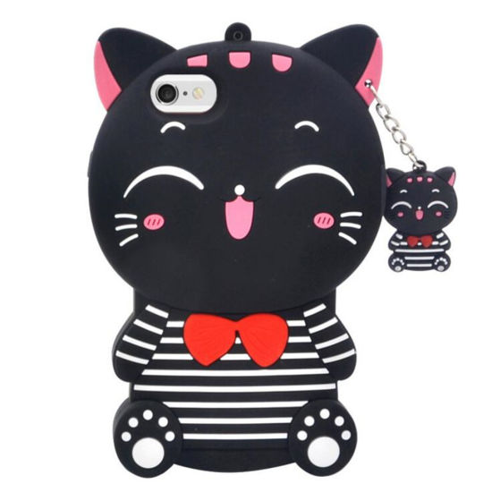 the best attitude f78da 63896 Smile Cat Cute Cartoon 3D Anime Silicone Phone Case