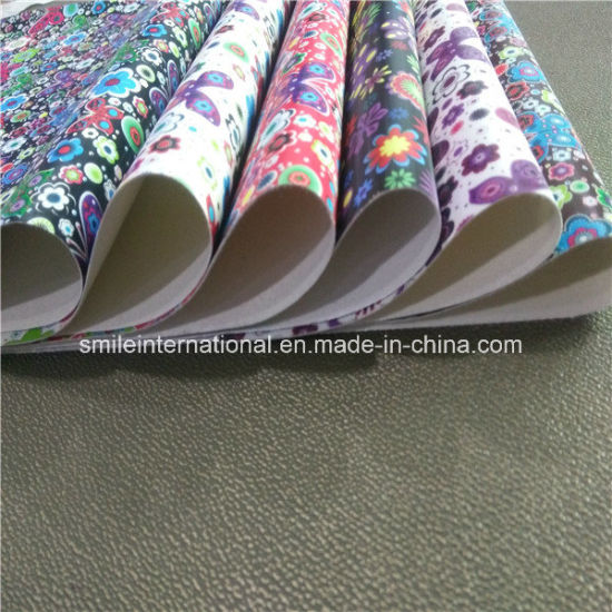 New Design PU Digital Printing Leather for Shoes pictures & photos
