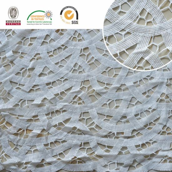 Half Circle Pattern Lace Fabric, Embroidery Lace for Textile and Dress 2017 E20042 pictures & photos