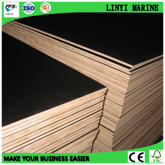 610*2440*21mm Brown Film Faced Plywood/ Shuttering Plywood WBP Glue pictures & photos
