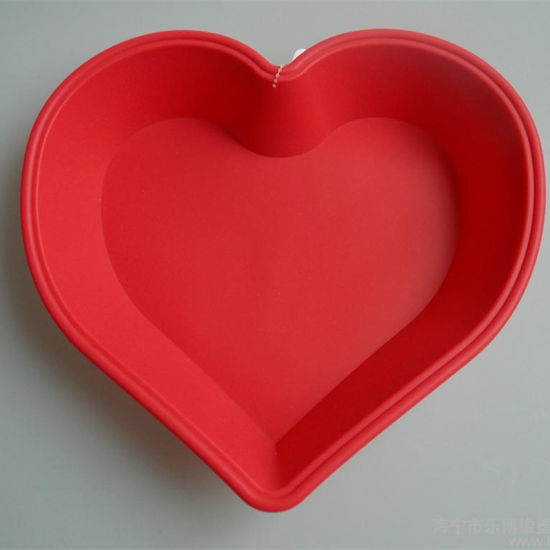 Heart Shape Silicone Baking Pan Mold pictures & photos