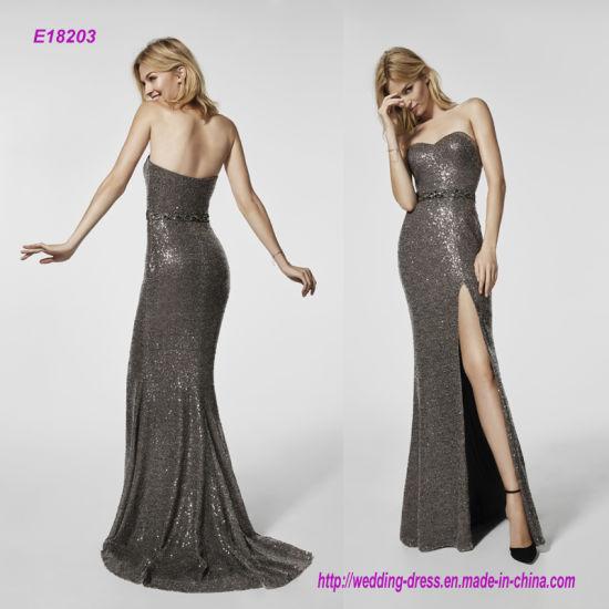 China a Strapless High Fork Fishtail Dress - China Evening Dress ...