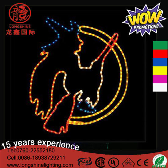 LED 60cm Mounted Flying Witch Ghost Decorative Light for Halloween Decoration