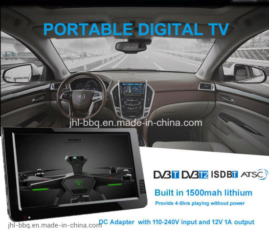 10.1 Inches Portable Digital TV Analogue TV Multimedia TV Color TFT LED Display HDMI and VGA Input, Analog TV, DTV+ATV All in 1 TV