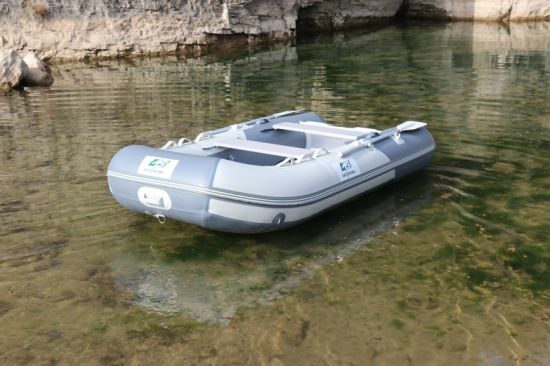 PVC Rubber Boat Inflatable Boat with Aluminum Floor for Fishing and Sport