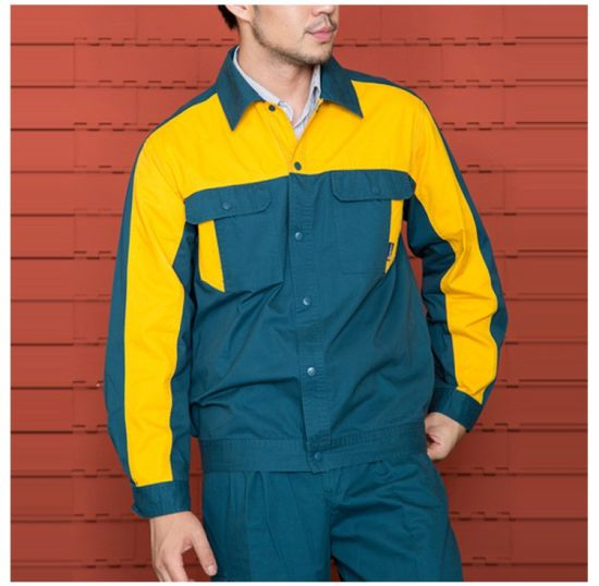 Safety Clothing Workplace Safety Supplies Factoray On Sales Cheap Long Sleeves Twill Industry Workwear Construction Jackets Durable Service