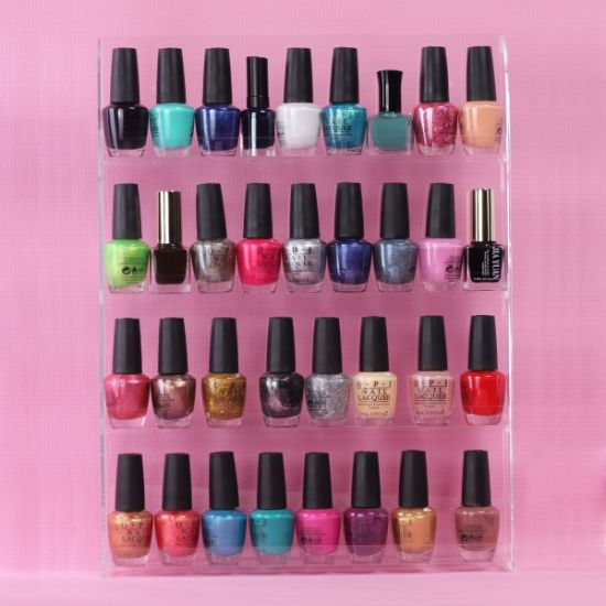Walll Mount Acrylic Nail Polish Display Shelf pictures & photos