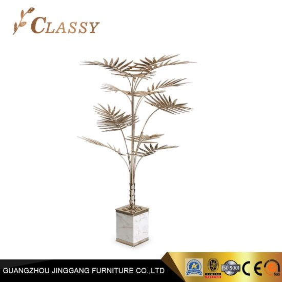 Gold Leaf Tree Decoration Metal Crafts for Luxury Hotel