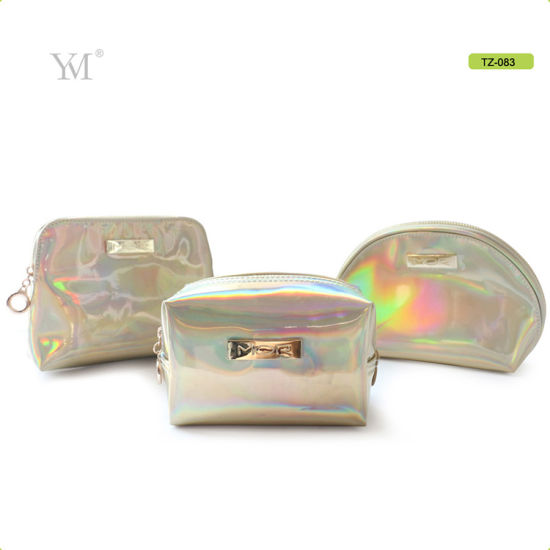 Fashionable Iridescent Clutch Cosmetic Pouch Makeup Set Bag