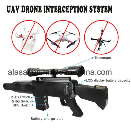 Gun Shape IR Laser Telescope Security Defense Uav Drone Blocker Jammer