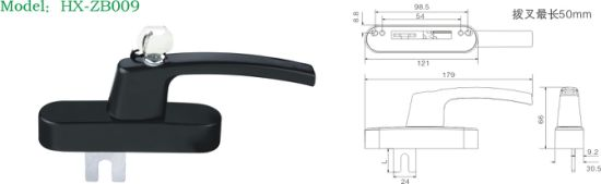 Die Casting Window Handle with Cylinder (ZB009) pictures & photos