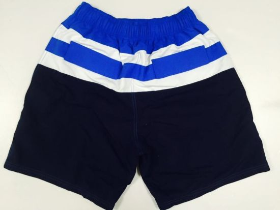 Oeko-Tex Flat Waist Polyester Contract Color Men Board Short Swimwear pictures & photos