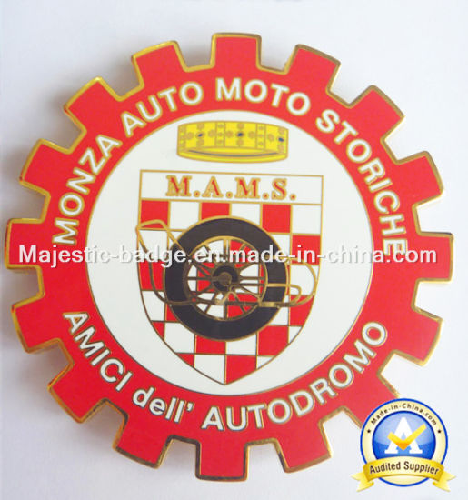 Customized Hard Enamel Car Badge pictures & photos