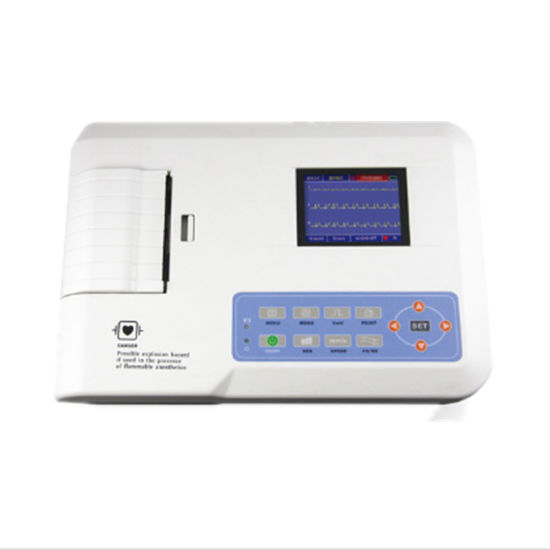 Low Price Ce Portable 3 Channel Parts of ECG Machine pictures & photos