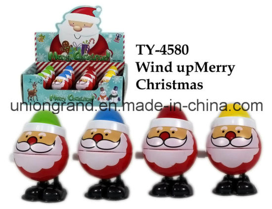 Plastic Wind up Merry Christmas Toy pictures & photos