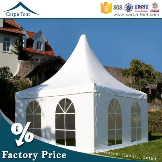 China 3X3 5X5 Pagoda Golf Tents with Waterproof PVC Tent