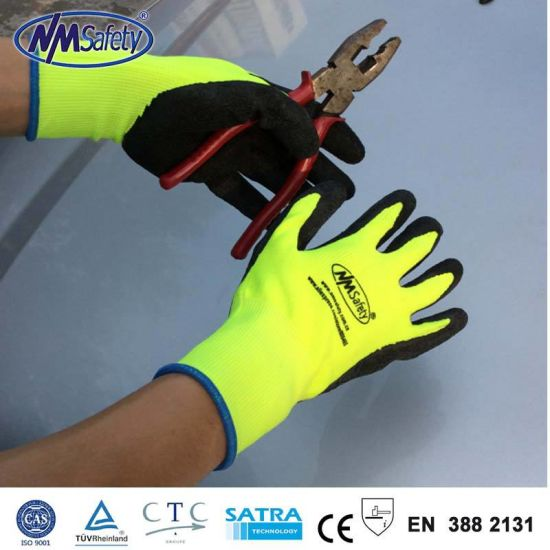 Nmsafety 13G Colorful Polyester Latex Coating Work Glove pictures & photos